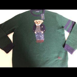 POLO Ralph Lauren Men's Wool Preppy Bear Sweater